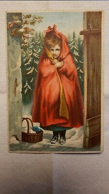 Dr. Jayne's Little Red Riding Hood Girl Victorian Trade Card J.F. Otto Baltimore