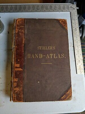 1892 Stieler's Hand Atlas on all Parts of the Earth 83 Maps by Justus Perthes