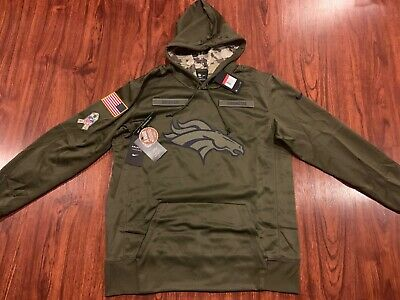 the latest 640a6 9a420 NIKE MEN'S DENVER Broncos Salute To Service Therma Hoodie Sweatshirt Large  L NFL