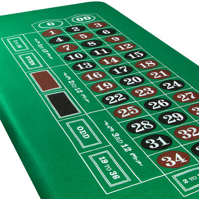 Blackjack and Roulette Table Felt. Casino night, table layout
