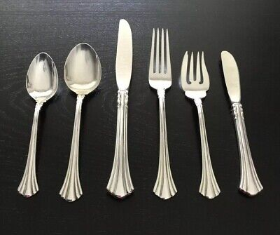 18th Century by REED & BARTON Sterling Silver Set Service 6 Pieces 🍴