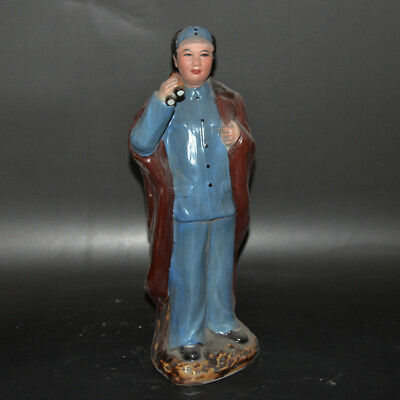 Chinese Collection Cultural Revolution Porcelain Mao Zedong character statue