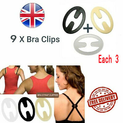 12x BRA STRAP CONCEALER CLIPS Racer Back Racerback Lift Push Up Cleavage Support
