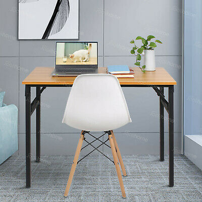 Folding Study Coffee Table Foldable Computer Desk Wooden