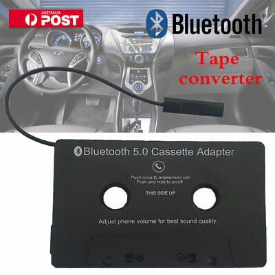 CAR AUDIO TAPE CASSETTE ADAPTER Bluetooth RECEIVER FOR IPHONE IPOD CD MP3 RADIO