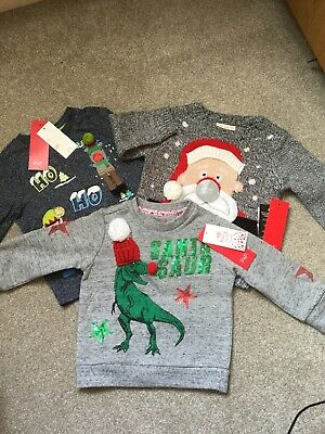 Boys F&F Christmas Clothes Brand New With Tags 12-18 Months