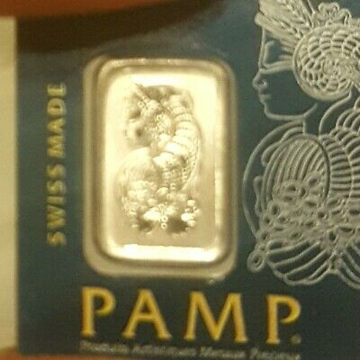 Pamp Suisse Platinum Bar - 1g 999.5 Pure - (In Assay)