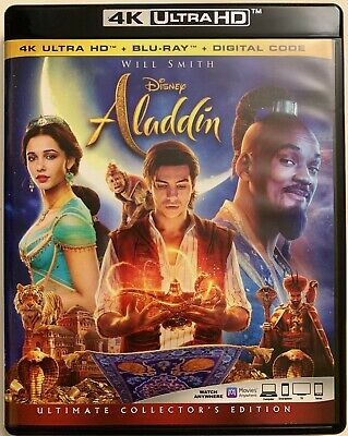 Disney Aladdin Live Action 4K Ultra Hd 1 Disc Only Free Shipping Will Smith 2019