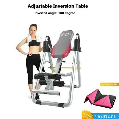 Adjustable Inversion Table For Home Use Back Pain Stress Relief Therapy Grey
