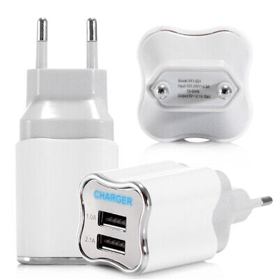 Quick Charge Dual USB 5V/2A Mobile Phone Wall Home Travel Fast Charger Adapter K