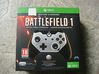 BATTLEFIELD 1 OFFICIAL WIRED CONTROLLER XBOX ONE & WINDOWS GAMEPAD PDP B-Ware