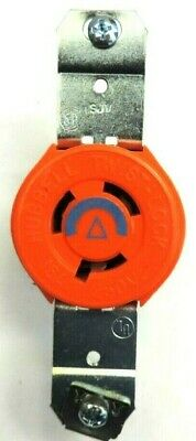 IG4560 Hubbell L6-15R Single Receptacle Isolated Ground 3 Wire Orange Blue Cent.