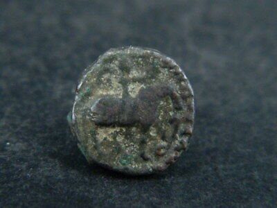 Ancient Bronze Coin Bactrian 100 BC #BR6577