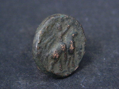 Ancient bronze Coin Bactrian 100 BC #GL1645