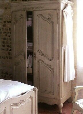 French Antique style Solid Pine Wardrobe (country corner collection)