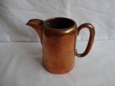 Unusual Antique Walker & Hall Jug Copper, Pearse Hotels Ltd Marked on Base