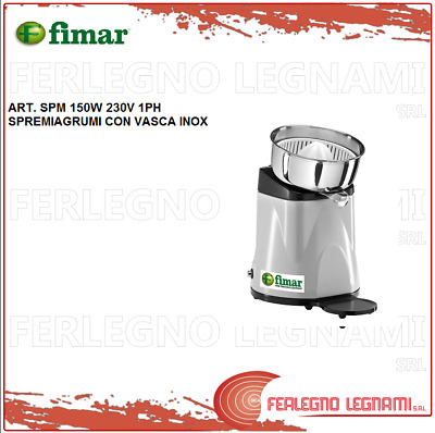 Juicer with Tub Stainless 150W 230V 1PH Fimar Spm