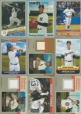 2019 Topps Heritage High Number Baseball Inserts You Pick- Free Shipping
