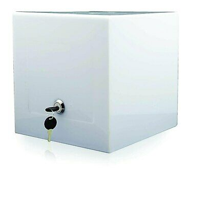 Locking Acrylic Display Ballot Cube Security Case for Tabletop 8x8 (Opaque)