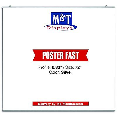 """M&T Displays 72"""" Heavy Duty Snap Poster Fast & Hanger Set"""