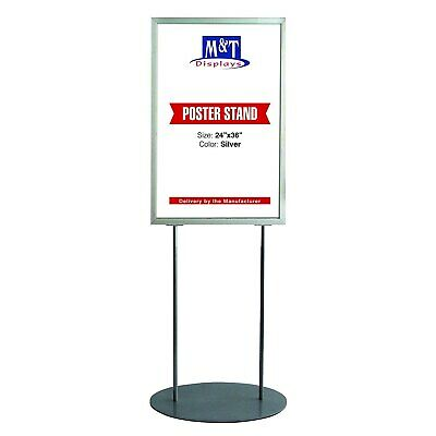 Oval Free Standing Advertising Display Board 24X36, Aluminum, Double Side