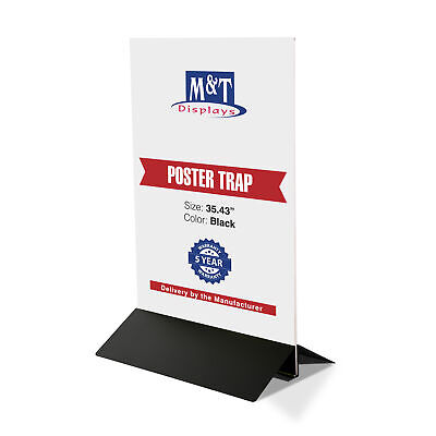 "Clear Swing Wing Sign Holder Acrylic Display 35-9/20"" Poster Width, Aluminum"