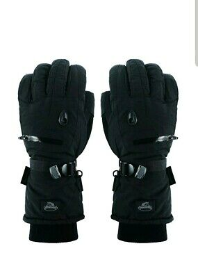 Men Black Waterproof Thinsulate Ski Snowboard Gloves Winter Warm Gloves  XL  One