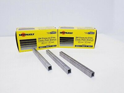 Upholstery Staples, Stainless Steel, 3/8 Crown, 1/2 Leg Spotnail 87008