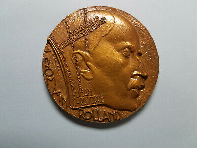 Romain Rolland Large Bronze Medal by A. Galtié