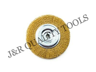 """6"""" Wire Wheel Brush Fits Bench Grinders with 1/2"""" or 5/8"""" Arbor Rust Removal"""