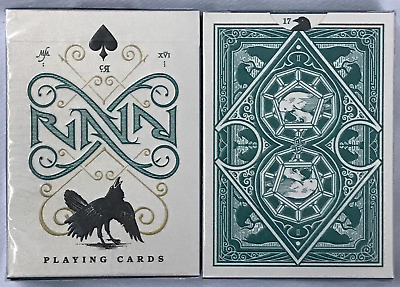 1 deck Ravn Petrol Green Playing Cards~Stockholm17~Caroline Ravn~Free Shipping