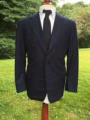 J Press Navy Flannel Sport Coat Suit Jacket 40S