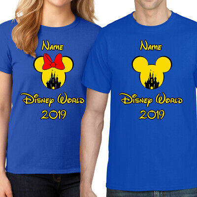 New Personalised Minnie/Mickey Mouse Disney World Vacation T-Shirt Florida/Paris