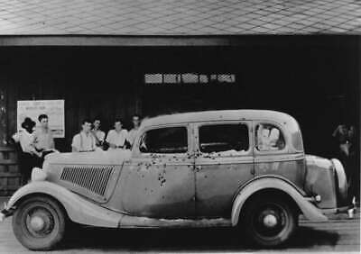 Antique Bonnie & Clyde Death Car Photo 847 Oddleys Strange & Bizarre