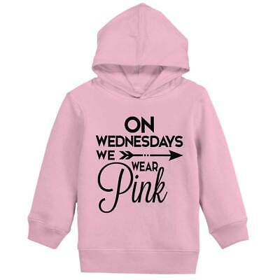 Wednesday Wear Pink Cute Shirt Funny Mean Gir Girls Toddler Pullover Hoodie