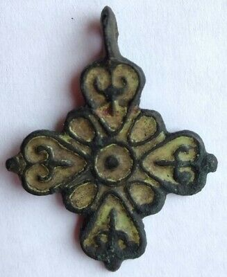 Ancient cross pendant 14th-15th century (size 35х28mm)  100% original