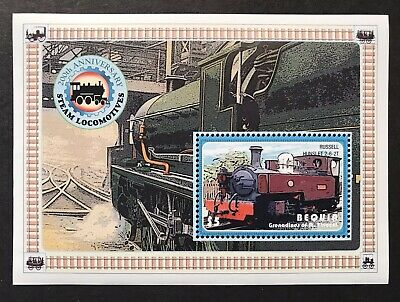 BEQUIA ST VINCENT TRAINS STAMPS S/S 2005 MNH 200th ANV. OF STEAM LOCOMOTIVES 348