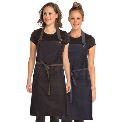 Bib Apron Urban Boulder Contrast Chefworks Barista Cafe Bar Black OR Purple