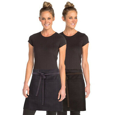 Half Apron Urban Boulder Contrast Chefworks Barista Cafe Bar Black OR Purple
