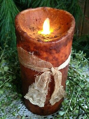 Your Hearts Delight by Audrey Primitive Pillar Battery Farmhouse Timer Candles