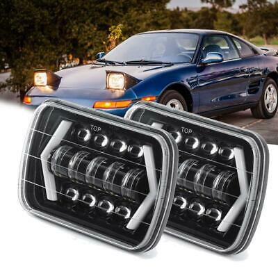 """2Pcs LED Headlight 7x6 5x7""""inch Clear Light Bulbs DRL for Toyota MR2 Replacement"""