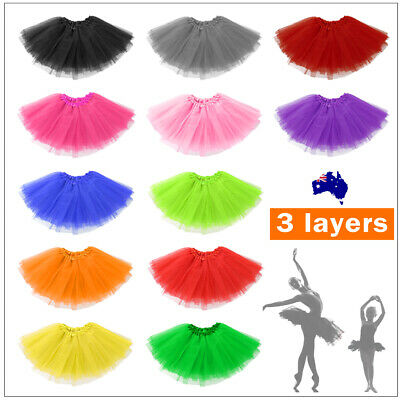 Adult Girl Kids Size Tutu Skirt Princess Dressup Party Costume Ballet Dancewear