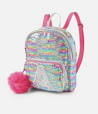 Choose Letter! NWT Justice Girls Unicorn Initial Flip Sequin MINI Backpack