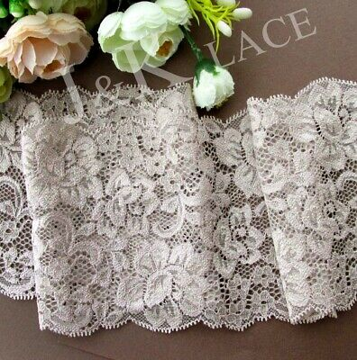 2 meters 12 cm width Light Taupe Stretch Lace Trim