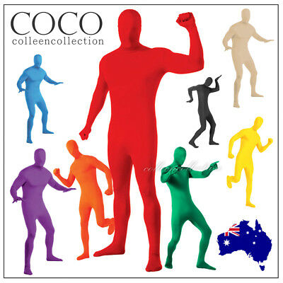 Adult Costume Spandex Body Suit Zentai Lycra Second Skin Morphsuit Halloween AU
