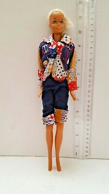 Vintage 1966 Mattel Blonde Barbie Doll  Made In Korea With 1 Outfit