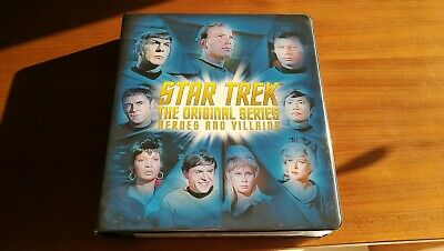STAR TREK TOS The Original Series Heroes & Villains Rittenhouse binder & cards