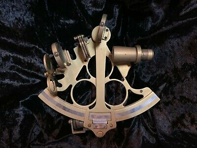 Real Cooke, Troughton and Simms sextant, brass, 1928, mahogany, antique, vintage