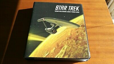 STAR TREK The Remastered Original Series TOS Rittenhouse binder, cards & autos