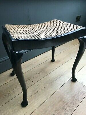 Arts and Crafts Liberty Style cane stool, bench